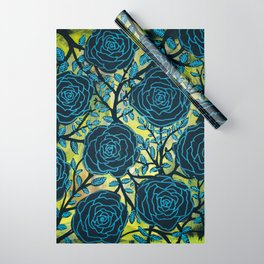 Black and Blue Wrapping Paper