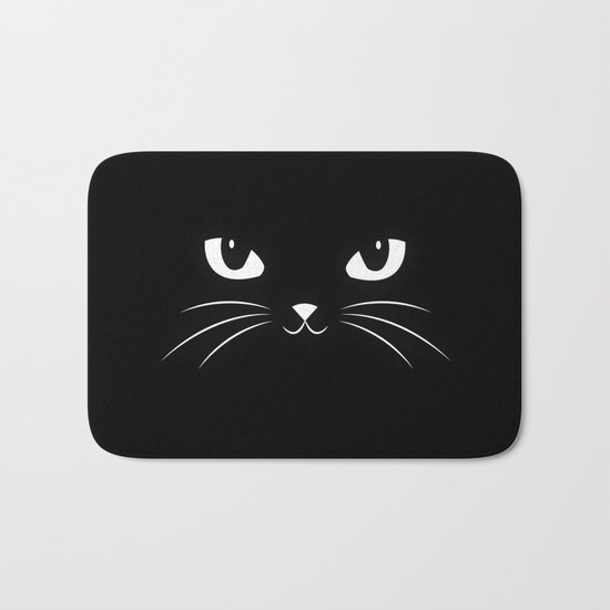 Cute Black Cat Bath Mat