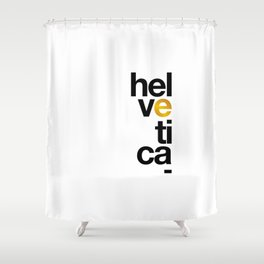 Helvetica Typoster #1 Shower Curtain