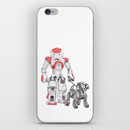 The Dog Walker. (Red) iPhone Skin
