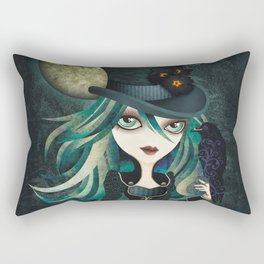 Raven's Moon Rectangular Pillow