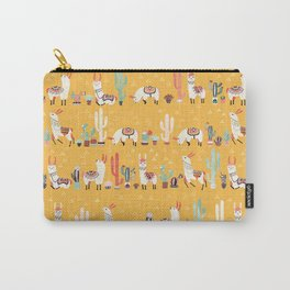 Happy llama with cactus in a pot Carry-All Pouch