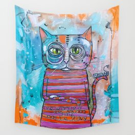 The Sass Cat Wall Tapestry