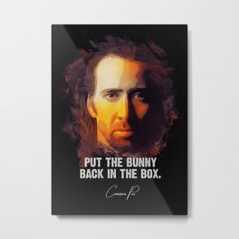 Bunny In The Box Metal Print