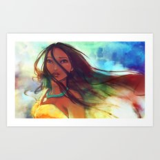 The Wind... Art Print