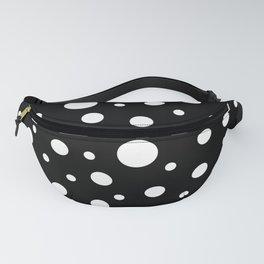 White on Black Polka Dot Pattern Fanny Pack