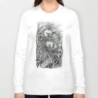 owls Long Sleeve T-shirts featuring Owls by Irina Vinnik