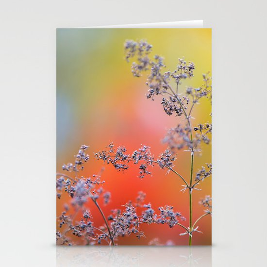 Flowers in autumn Stationery Cards