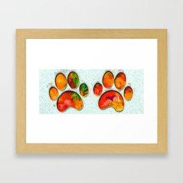 My Cat Paw Framed Art Print