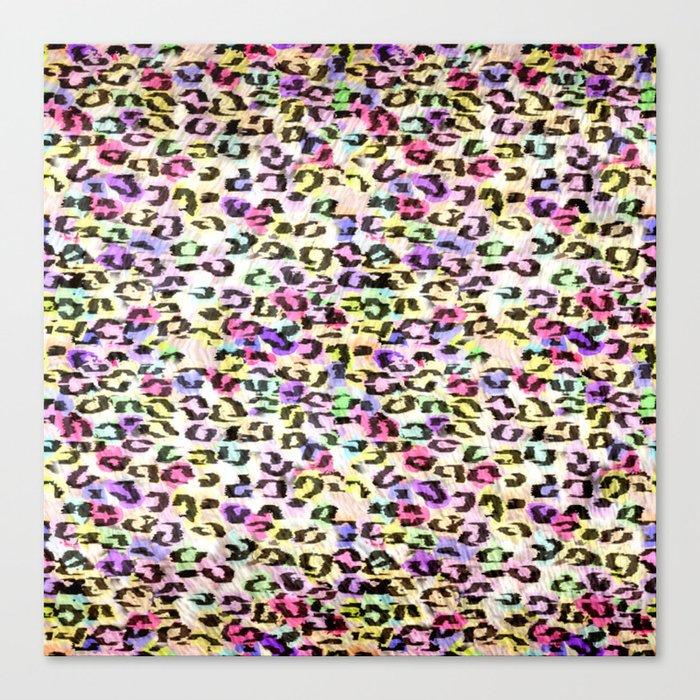 Colorful Leopard Spots Canvas Print