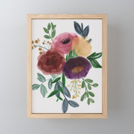 Floral Bouquet in watercolor Framed Mini Art Print