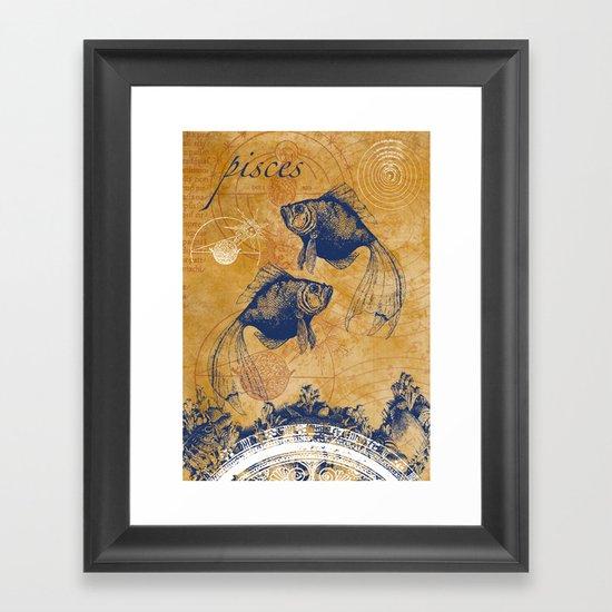 pisces | fische Framed Art Print