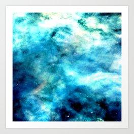 Ocean Blues Nebula galaxy Art Print