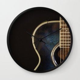 Acoustic Guitar Colour Wall Clock