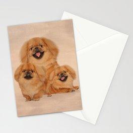 Pekingese dogs collage Stationery Cards