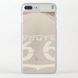 Route 66 ... Clear iPhone Case