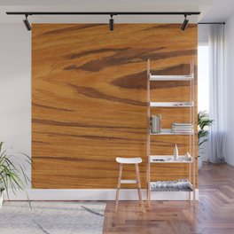 Teak Wood Wall Mural