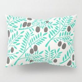 Olive Branches – Turquoise & Black Palette Pillow Sham