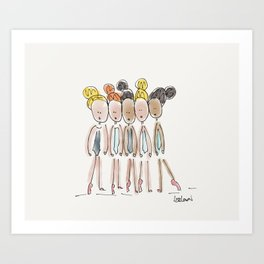 Show Girls Art Print