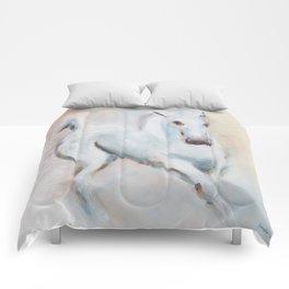 white horses Comforters