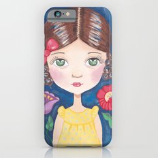 Hungarian girl on blue iPhone 6s Slim Case