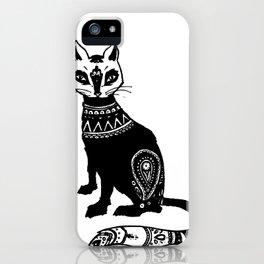 Paisley Cat iPhone Case