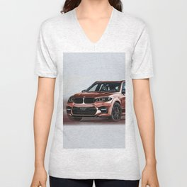 Bavarian car X5 by Artrace Unisex V-Neck