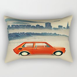 Red Polski Fiat  Rectangular Pillow