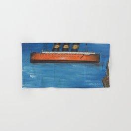 Transatlantic Ocean Linger, 1925 Huile sur toile nautical landscape by Yves Tanguy  Hand & Bath Towel