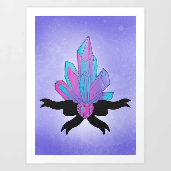 Pretty Crystals Art Print