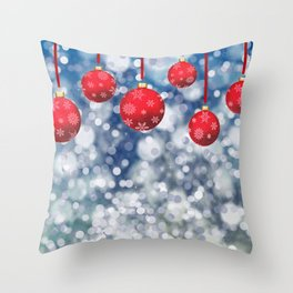 Christmas Red Boubles Throw Pillow