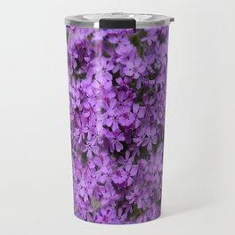 WHITE  LILAC PURPLE SPRING PHLOX FLOWERS GARDEN Travel Mug