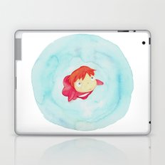 Ponyo Watercolor Laptop & iPad Skin