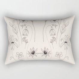 Winter Blooms Rectangular Pillow
