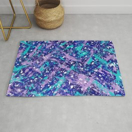 Winter Day Dreams Abstract Rug