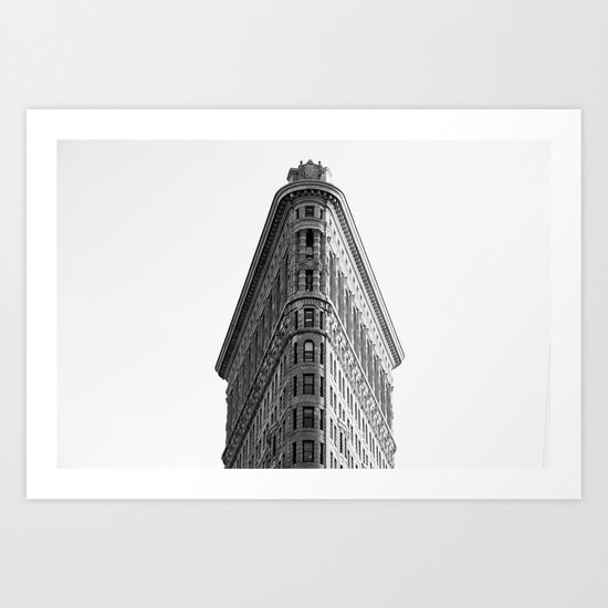 Flatiron Black and White NYC Art Print