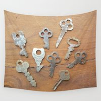 key Wall Tapestries featuring key by L Step