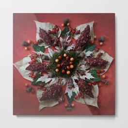 Nature Mandala: December Metal Print