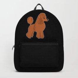 Apricot Poodle on Black Backpack