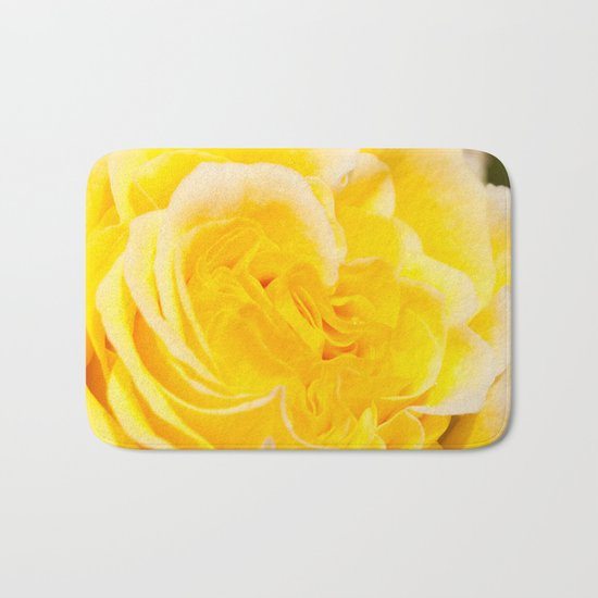A Touch of Yellow #Rose #1 #art #society6 Bath Mat