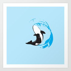 Oh Whale! | Animals Art Print