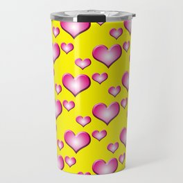 herzen collage Travel Mug