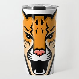 Ocelot Head Front Mascot Travel Mug