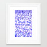 glitter Framed Art Prints featuring Periwinkle Glitter Sparkle by Whimsy Romance & Fun