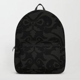 Black Damask Backpack