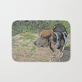 Mr.Clancy the Bassett Hound Bath Mat