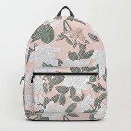 Gardenias on Peach Backpack