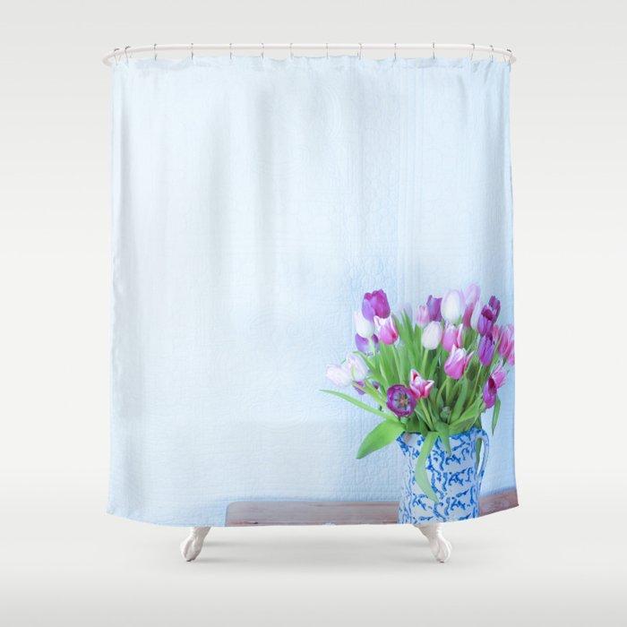 Exhilaration Of Spring Shower Curtain By Jeanladzinski