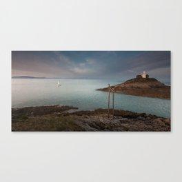 Mumbles lighthouse Swansea Canvas Print