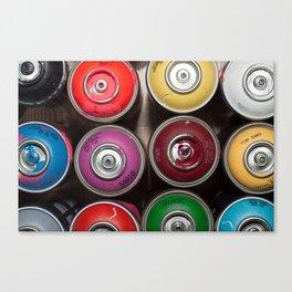 SPRAY CANS 3 Canvas Print